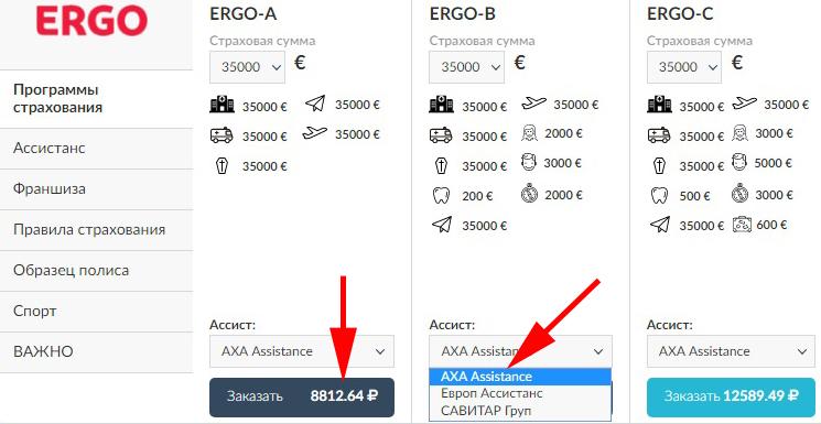 страховка ERGO на полгода